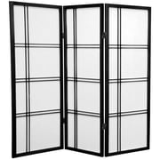 Mistana 48'' x 42'' Boyer 3 Panel Room Divider; Black