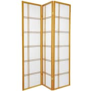 Mistana 70'' x 42'' Boyer 3 Panel Room Divider; Honey