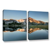 World Menagerie 'South Sister Reflection II' 2 Piece Photographic Print on Wrapped Canvas Set