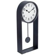 Brayden Studio Modern 10'' Metal Wall Clock; Black