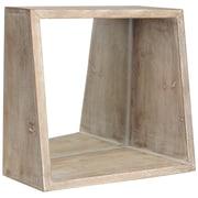 Brayden Studio Square Wood Wall Mirror; Natural