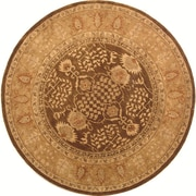 Alcott Hill Ladd Brown/Gold Area Rug; Round 6'