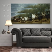 Alcott Hill 'The Horse Fair' Photographic Print on Wrapped Canvas; 12'' H x 24'' W
