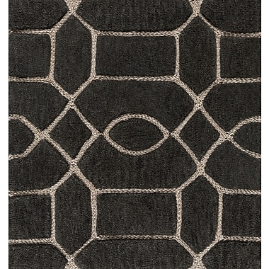 Charlton Home Desroches Hand-Tufted Brown/Beige Area Rug; 2' x 3'