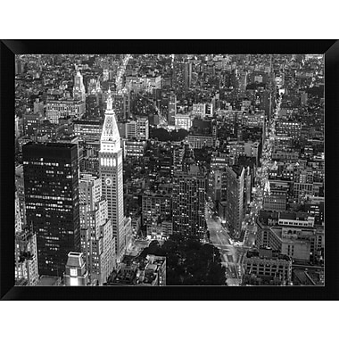 East Urban Home 'Aerial View of Manhattan NYC' Framed Photographic Print; 12'' H x 16'' W
