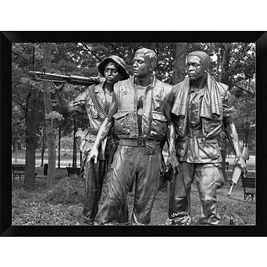 'Vietnam Memorial Soldiers by Frederick Hart Washington D.C' Framed Photographic Print