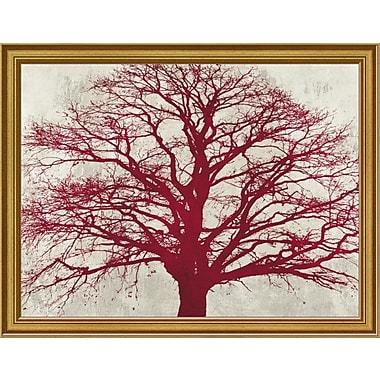 East Urban Home 'Purple Oak' Framed Graphic Art Print; 9'' H x 12'' W