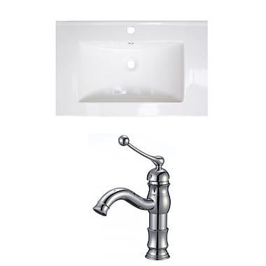 Jade Bath Vee Ceramic 21'' Single Bathroom Vanity Top