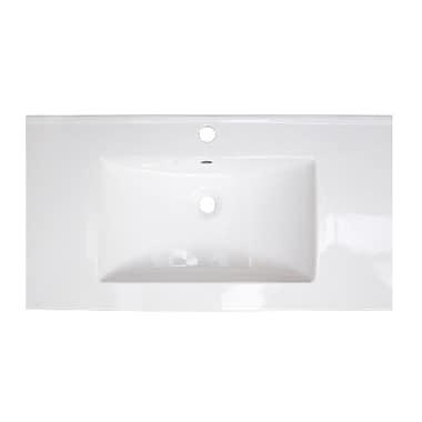 American Imaginations Flair Ceramic 37'' Single Bathroom Vanity Top; Single Hole