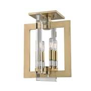Everly Quinn Mott 4-Light Flush Mount; Aged Brass