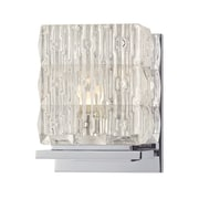 Everly Quinn Abdo 1-Light Bath Sconce; Polished Chrome