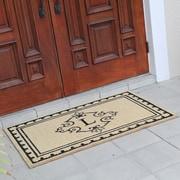 Fleur De Lis Living Bradford Anti Shred Treated Non-Skid Entry Monogrammed Double Doormat; L
