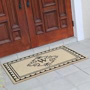 Fleur De Lis Living Bradford Anti Shred Treated Non-Skid Entry Monogrammed Double Doormat; W