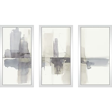 Ivy Bronx 'Improvisation II Gray' Framed Painting Print Multi-Piece Image on Glass