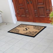 Darby Home Co Hedvige Courtyard Entry Double Monogrammed Doormat; S