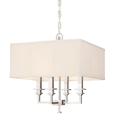 Darby Home Co Eldorado 4-Light Shaded Chandelier; Polished Nickel