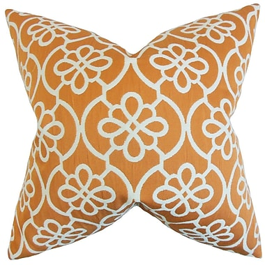 Darby Home Co Chaplain Geometric Throw Pillow Cover; Orange