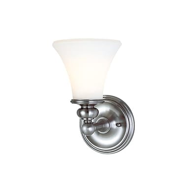 Darby Home Co Eisenhauer 1-Light Wall Sconce; Polished Nickel