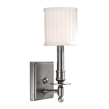 Darby Home Co Edwin 1-Light Wall Sconce; Satin Nickel