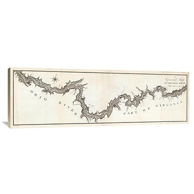 East Urban Home 'A General Map of the River Ohio, Plate 2, 1796' Watercolor Painting Print on Canvas
