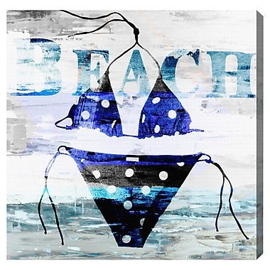 Latitude Run 'Polka Dot Bikini' Graphic Art on Canvas; 16'' H x 16'' W x 1.5'' D