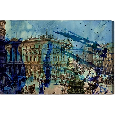 Latitude Run 'Picadilly' Graphic Art on Wrapped Canvas; 30'' H x 45'' W x 2'' D