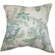 One Allium Way Penton Floral Throw Pillow Cover; Blue