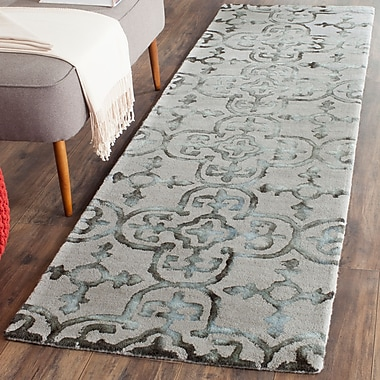 Ophelia & Co. Kinder Hand-Tufted Gray/Charcoal Area Rug; Runner 2'3'' x 8'