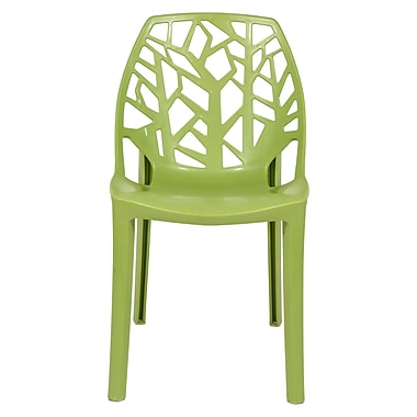 Ivy Bronx Kimonte Modern Lightweight Stacking Dining Side Chair; Solid Green