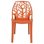 Ivy Bronx Kimonte Modern Lightweight Stacking Dining Side Chair; Solid Orange