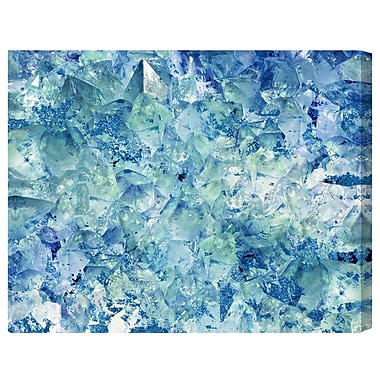 Ivy Bronx 'Blue Crystals' Painting Print on Wrapped Canvas; 36'' H x 45'' W