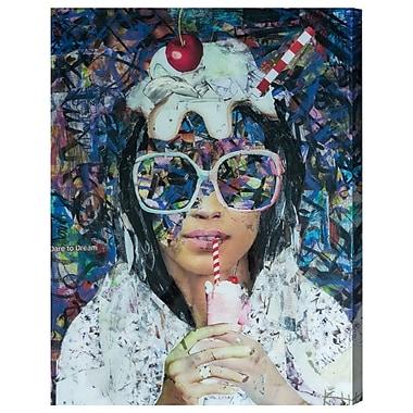 Ivy Bronx 'Obadiah Milkshake' Graphic Art on Wrapped Canvas; 16'' H x 12'' W x 1.5'' D