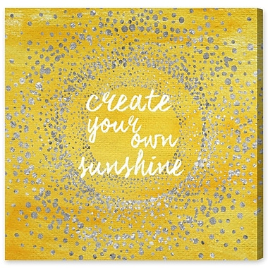 Ivy Bronx 'Your Own Sunshine' Textual Art on Wrapped Canvas; 16'' H x 16'' W x 1.5'' D