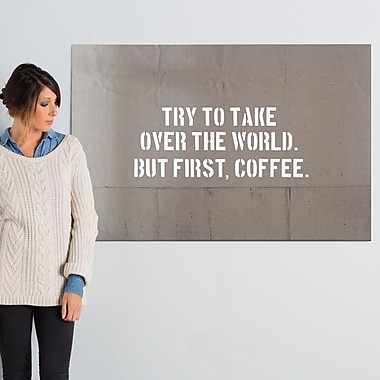 Ivy Bronx 'Coffee Brown' Textual Art on Wrapped Canvas; 30'' H x 45'' W x 1.5'' D