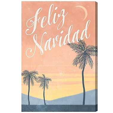 Ivy Bronx 'Feliz Navidad' Vintage Advertisement on Wrapped Canvas; 45'' H x 30'' W x 1.5'' D