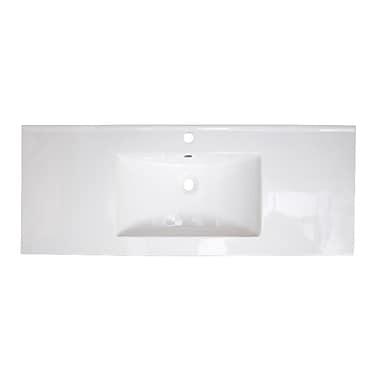 Jade Bath Roxy Ceramic 48'' Single Bathroom Vanity Top; Single Hole
