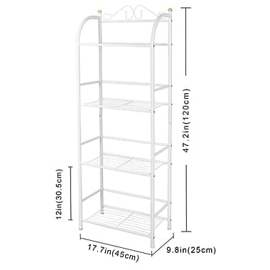 Lifewit 4-Tier Multifunctional Standing Unit Storage Rack
