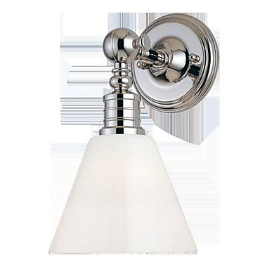 Longshore Tides Charley 1-Light Wall Sconce; Polished Nickel