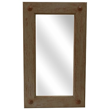 Loon Peak Rustic Rectangle Accent Mirror; 36'' H x 30'' W x 2'' D