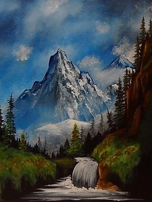 Loon Peak 'Trail to the Mountain' Print