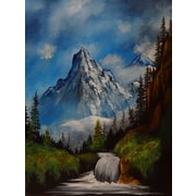 Loon Peak 'Trail to the Mountain' Print on Wrapped Canvas; 16'' H x 12'' W