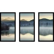 Loon Peak 'Quiet Morning' Framed Photographic Print Multi-Piece Image on Glass; 33.5'' H x 52.5'' W