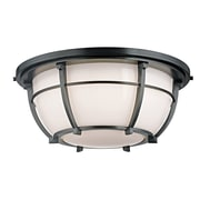 Longshore Tides Argie 3-Light Flush Mount; Aged Zinc