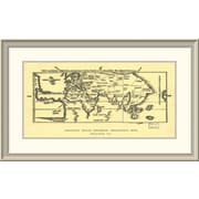 East Urban Home 'Early World Map' Framed Print; 23'' H x 38'' W x 1.5'' D