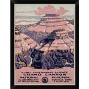 'Grand Canyon National Park a Free Government Service ca. 1938' Framed Graphic Art Print