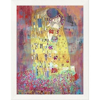 East Urban Home 'Klimt's Kiss 2.0' Framed Oil Painting Print; 12'' H x 9'' W