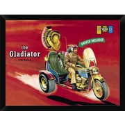 East Urban Home 'The Gladiator - Driver Included' Framed Graphic Art Print; 12'' H x 16'' W