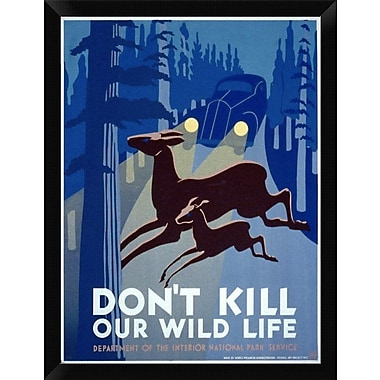 East Urban Home 'Don't Kill Our Wild Life' Framed Graphic Art Print; 16'' H x 12'' W