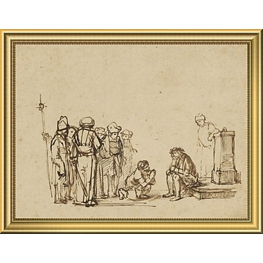 East Urban Home 'The Mocking of Christ' Framed Drawing Print; 14'' H x 18'' W