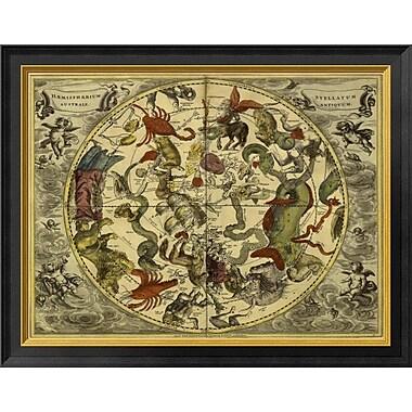 'Maps of the Heavens: Haemisphaerium Stellatum Australe Antiquum' Framed Graphic Art Print
